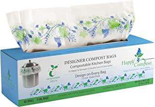 Compost Bags For Countertop Bin - (2 X Thicker Than Most) Trash Bags (3 - 4 Gal) Eco Friendly Garbage Bags Kitchen Compost...