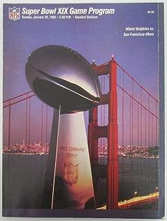Super Bowl XIX Official Program Miami Dolphins vs San Francisco 49ers 128395
