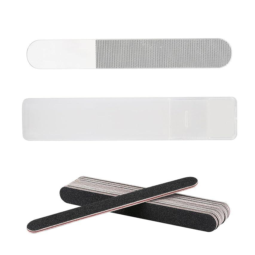 大胆不敵クリケットペインティングLIHAO 爪やすり ガラス製 爪磨き ネイルシャイナー ネイルファイル ケース付き 11個セット