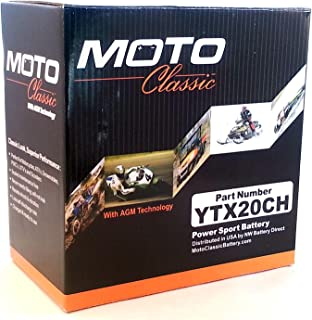 Moto Classic YTX20CH Maintenance Free Sealed AGM 270CCA Battery