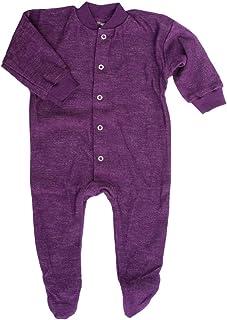 Cosilana Schlafanzug/Strampler mit Fuß, Woll-Frottee, 100% Wolle kbT