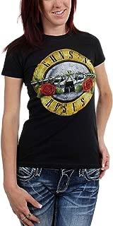 Guns n Roses - Womens Distressed Bullet T-Shirt