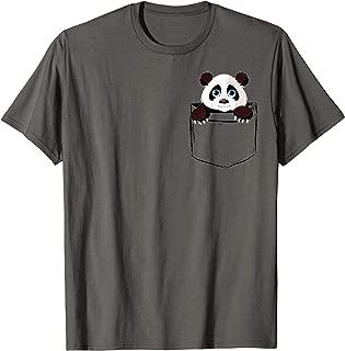 Cute Pocket Panda Bear Lover Dad Mom Funny Kidding T-Shirt