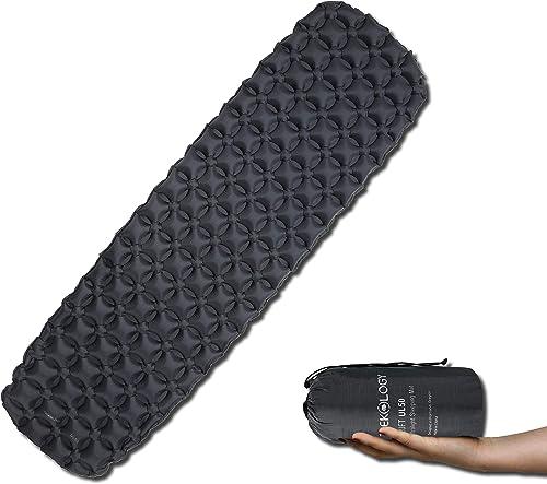 Trekology Inflatable Sleeping Pad, Camping Mats for Sleeping - Compact Lightweight Camp Mat, Ultralight Comfortable B...