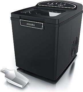 Arendo 722304982722 Machine à glaçons en Acier Inoxydable, B : Noir
