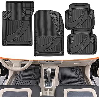 Motor Trend MT-794-BK FlexTough Advanced Performance Mats - 4pc HD Rubber Floor Mats for Car SUV Auto All Weather Plus (Black)