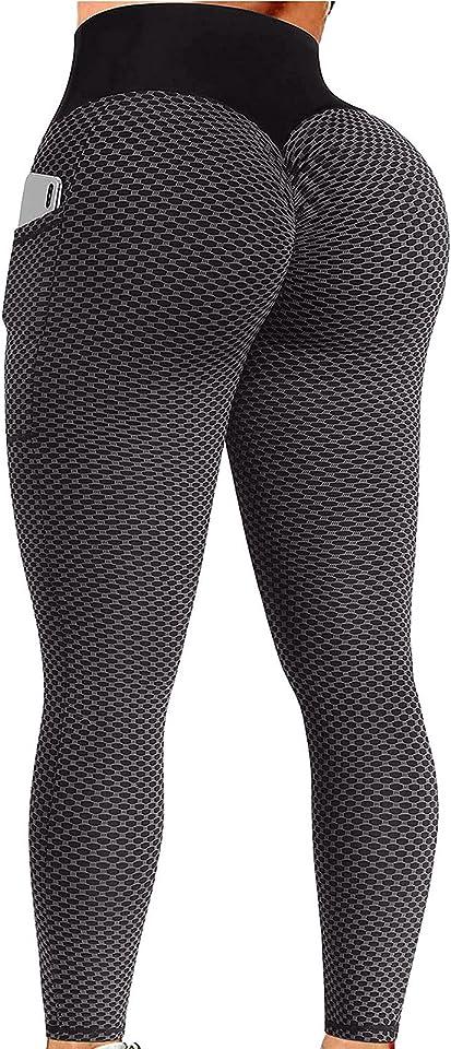 Honeycomb Leggings TIK Tok Leggings Anti Cellulite Leggings Tick Tock Leggings with Pocket