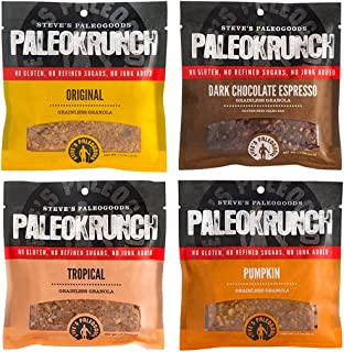 Steve's PaleoGoods, PaleoKrunch Bar Sampler, 18 oz (Pack of 12)
