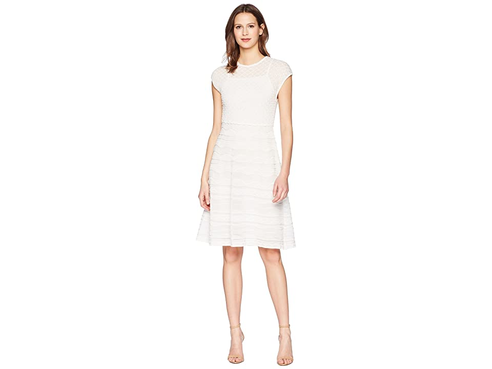 M Missoni Solid Rib Stitch Dress (White) Women