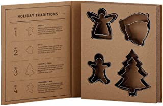 Santa Barbara Design Studio Holiday Cardboard Book Gift Set, 8-Piece, Cookie Cutters