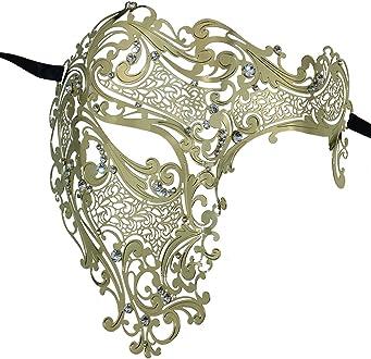taille unique Coddsmz Masque v/énitien Steampunk style fant/ôme de lop/éra m/écanique