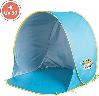LUDI – Tente de plage avec Protection UV 50. Dès 10 mois. Structure pop-up..