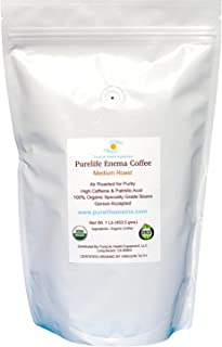 PureLife Enema Coffee- 1 Pound, Organic Medium Air Roast - Gerson Accepted - Without Mold or Fungus - Ships Fresh