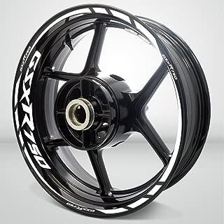 Gloss White Motorcycle Rim Wheel Decal Accessory Sticker For Suzuki GSXR 750