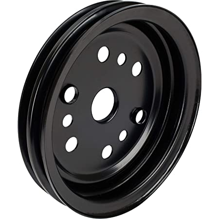 Black Lwp Fits Chevy SB Small Block Engine Aluminum Crank Pulley 3 Groove