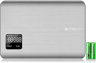 Etekcity Balance Cuisine Électronique 5kg/5L, Écran LCD, Tactiles Sensibles, Indicateur de la Batterie, Plateforme Infinit...