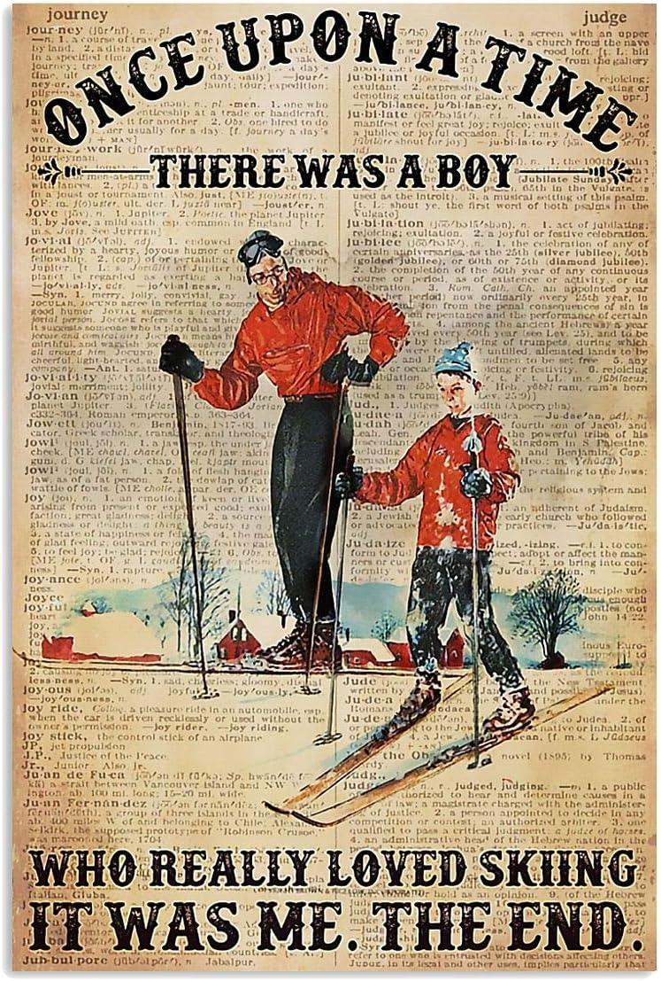 Skiing Once Upon A Time Poster Art Print Decor Home