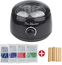 Vinteky Hot Wax Warmer Kit, Hair Removal Waxing Kit Electric Wax Heater Waxing Machine for All Wax Types with 4 Flavors Hard Wax Beans & 20 Wax Applicator Sticks