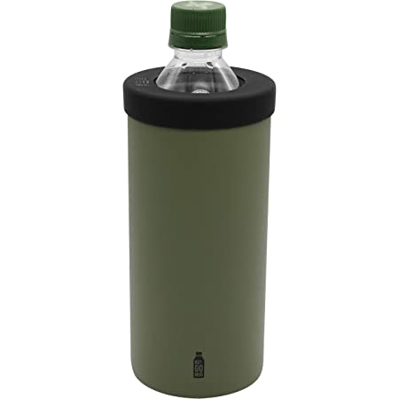 シービージャパン ペットボトル ホルダー グリーン Lサイズ 保温 保冷 ステンレス 真空 断熱 BOT GOMUG