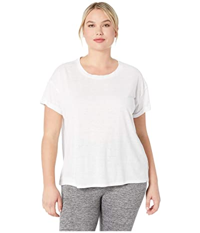 Prana Plus Size Cozy Up T-Shirt (White) Women