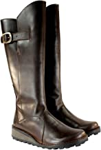 FLY London Womens MOL Warm Fur Lined Knee High Leather Boots - Brown - 10