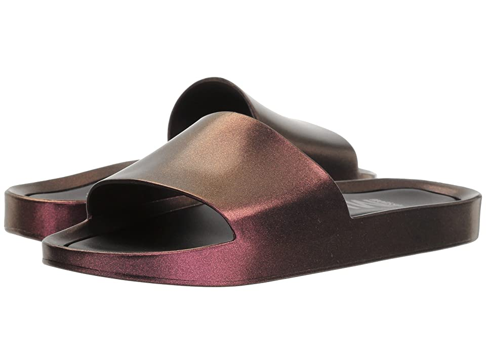 Melissa Shoes Beach Slide Shine (Red Wine Iridescent) Women
