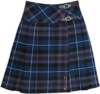 """Tartanista Long Plain Black Tartan/Plaid 23"""" Wrap Kilt Skirt"""