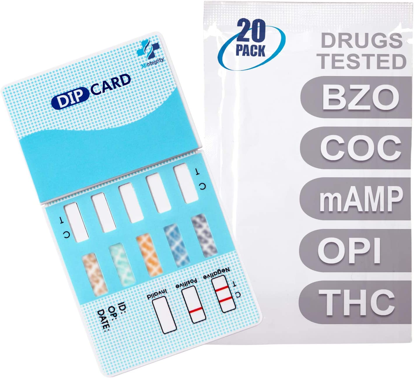 MiCare 20pk - 5-Panel Urine All items free shipping Drug Test OPI mAMP T Card COC BZO Fixed price for sale
