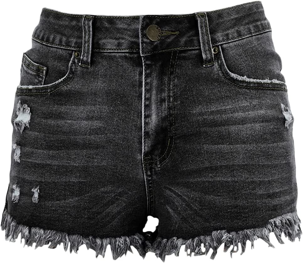 Women's Ripped Hole Denim Shorts Summer Fit Manufacturer OFFicial shop Frayed Casual He Raw Direct stock discount