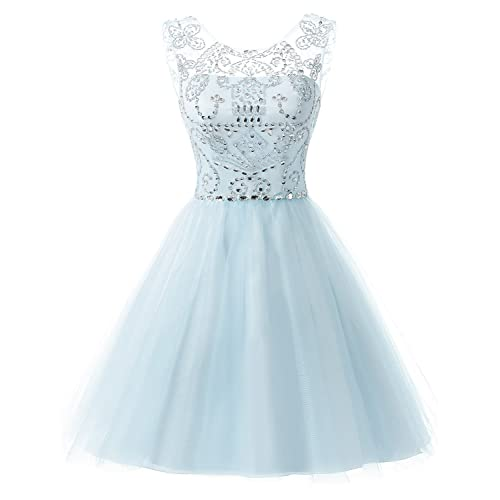 1c860159ca7 Sarahbridal Juniors Short Homecoming Dresses Crsytal Tulle Prom Party Gowns  SD018