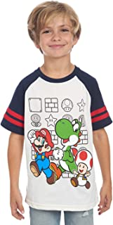 Nintendo Boys' Super Mario Characters T-Shirt for Kids Little Boys and Big Boys Tees