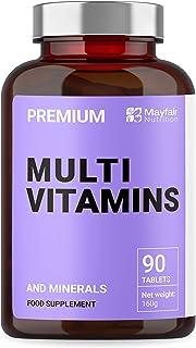 Multivitaminas completas | Multivitaminas. Zinc. Hierro y Magnesio | 90 Cápsulas | Suministro para 3 Meses | Fabricado en el Reino Unido por Iron Ore Health