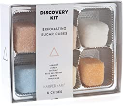Harper + Ari Sugar Scrub Cubes, Exfoliating Body Scrub Gift Set Box, Soften and Smooth Skin with Shea Butter and Aloe Vera, 6 Piece Box Set, Discovery Kit (Discovery Kit)