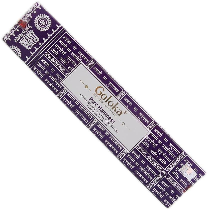 応じるサイバースペース素晴らしきGoloka?–?Pure Hapiness?–?Lavender Incense Sticks?–?12ボックスの15グラム合計180グラム