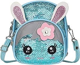 حقيبة ظهر مدرسية للأطفال من Amshine بالترتر - حقيبة ظهر صغيرة لحمل الأطفال على شكل أرنب لطيف على شكل حقيبة ظهر للسفر