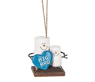 Big Bro S'mores Duo 2.5 x 2.5 Inch Resin Holiday Tree Ornament Figurine