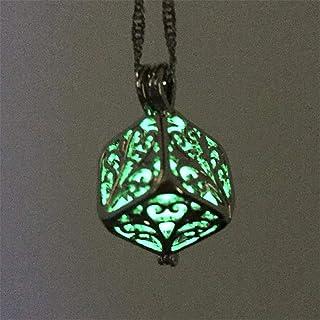 Collana di bagliore, Luna stella luminosa in lega Jewelry Collana con ciondolo placcato halloween