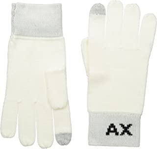 ARMANI EXCHANGE 男式针织标志手套