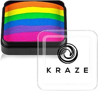 Kraze FX Dome Cake - Neon Rave (25 gm), Professionele gespleten cake voor gezichts- en bodypainting, hypoallergeen, veilig...