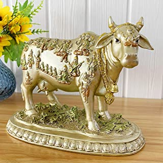 BangBangDa Hindu God Nandi Cow Statue - Hinduism Diwali Gifts Decor Sculpture - Indian Wedding Return Pooja Item