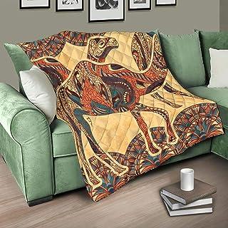 Flowerhome - Edredón nórdico de camel egipcio, colcha de cama, manta de sofá, manta de invierno, para adultos y niños, color blanco, 130 x 150 cm
