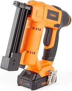VonHaus 18v Cordless Nail Gun/Brad Nailer - Li-ion Battery Operated – Ergonomic – Medium Duty For Fabrics, Upholstery, Underlay, Carpeting, Roofing & Crafts Model No. 9100100