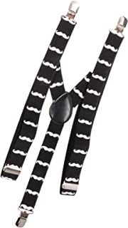 Multi-Color AJ Accessories Youth Boys Mustaches Suspenders
