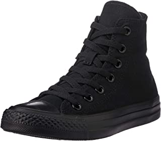 Converse Chuck Taylor High Top Unisex Sneakers, Black Monochrome