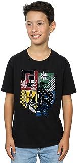 HARRY POTTER niños Hogwarts Varsity Camiseta 7-8 Years Negro