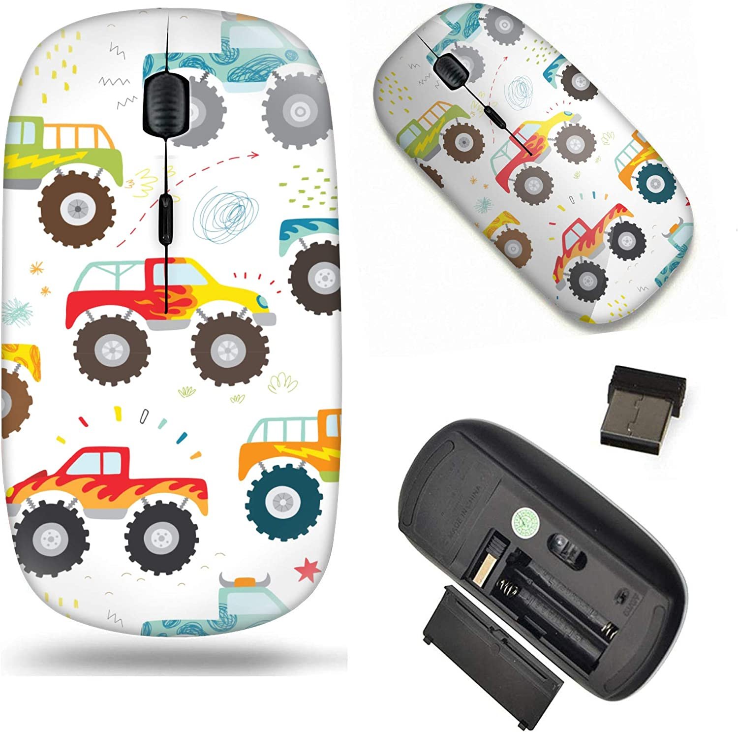 Unique Pattern Year-end gift Raleigh Mall Optical Mice Mobile Wireless Mouse Portable 2.4G