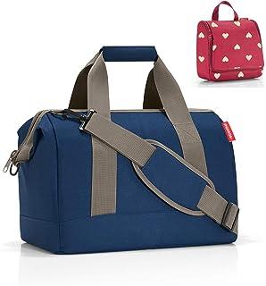 reisenthel Allrounder M Dark Blue Reisetasche 18l  Kulturtasche toiletbag Ruby Hearts