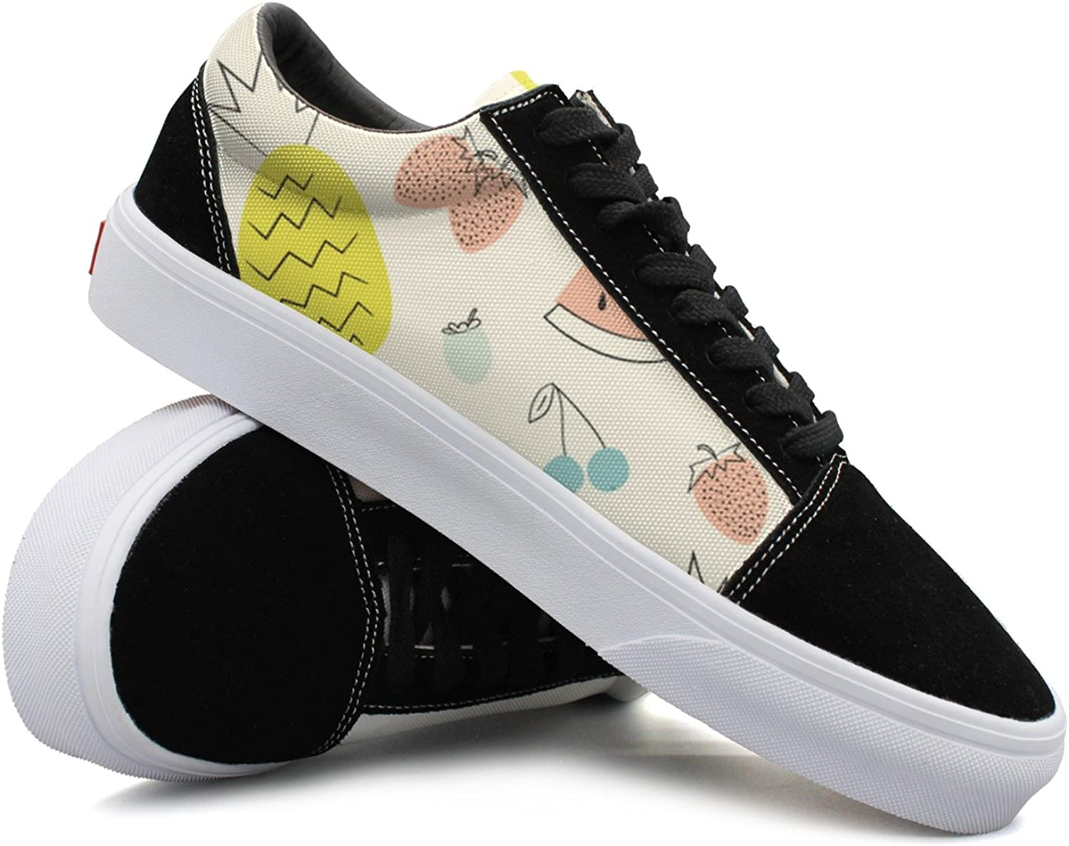 Yummy Fruits Pineapple Strawberry Women Casual Sneakers shoes Canvas Classic Cute Simple