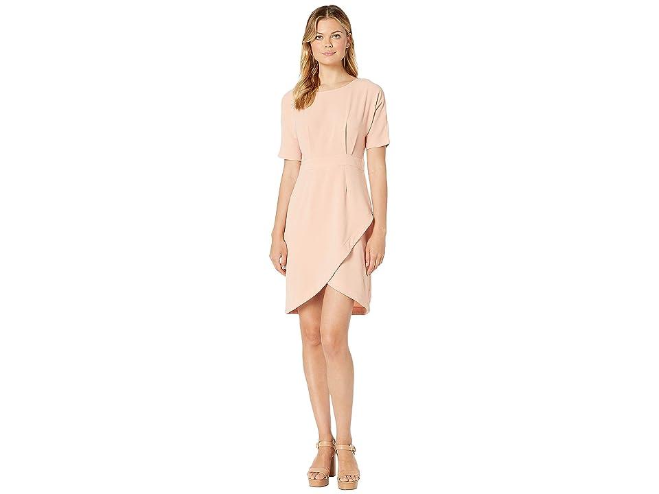 Bobeau Dolman Sleeve Wrap Dress (Pink Rosecloud) Women