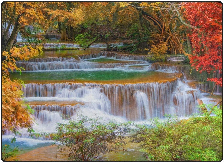 FAJRO Waterfalls-Nature-Landscape-Autumn-River-Waterfall Rugs for entryway Doormat Area Rug Multipattern Door Mat shoes Scraper Home Dec Anti-Slip Indoor Outdoor